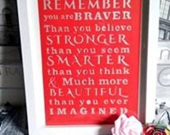 Inspirational quote framed paper cut,unique framed art,