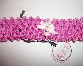 Pink elastic headband