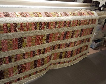 Indian Summer by Riley Blake Twin Coin Quilt perfect for the dorm room