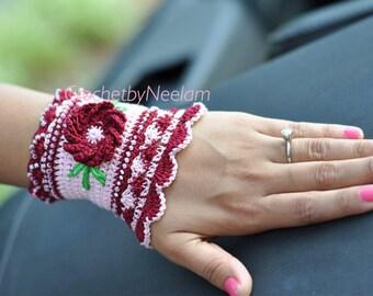 Crochet bracelet pattern -Jewelry bracelet crochet pattern, bohemian unique bracelet, beads bracelet,Bracelet Cuff,Cuff bracelet pattern P78
