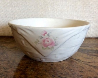 Vintage Pfaltzgraff Tea Rose Pfaltzgraff Basket Weave Pattern Serving Bowl