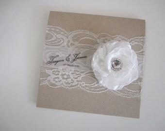 Rustic 'Hidden Jewel' Invitation SAMPLE