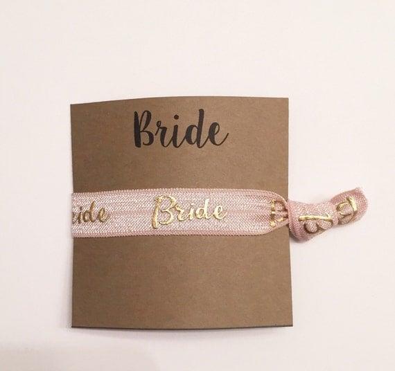 Bridesmaid hair tie favor//hair tie card, hair tie favor, party favor, bridesmaid gift, bachelorette gift, elastic hair ties