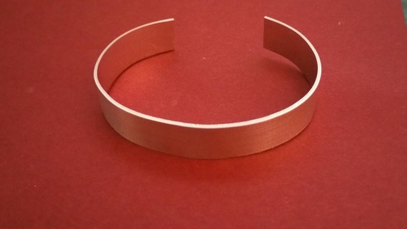 """14, 16 or 18 g., 1""""x6"""" Aluminum CUFF BRACELET BLANKS,  sets of 3, metal jewelry supply, hand stamping, ring making supplies, bangle"""