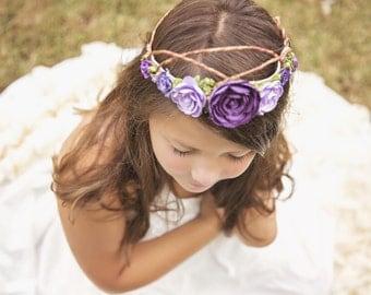 Woodland Fairy Princess Crown,  Tiara, Baby Photo Prop, Flower Girl, Flower Crown, Birthday Crown, Flower Girl, Wedding Flowers, Photo Prop
