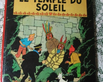 Cartoon tintin edition Francaise temple Sun 1949 edition published in Belgium by casterman in 1966.
