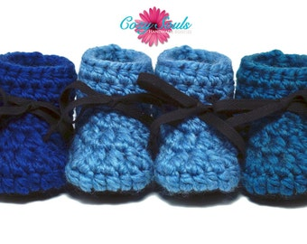 Cozy Souls Handmade Booties - Cozy Wool Blend, Non-Slip Leather Soles, Faux Fur Insoles - One pair - Size 3-6 Months