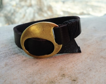 Leather Bracelet, Leather Cuff Bracelet, Womens Bracelet, Mens Bracelet, Wrap Bracelet Cuff,Customized On Your Wrist