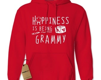 Hoodie Happiness Is Being A Grammy Hooded Sweatshirt Mothers Day Hoodie #1384 By Expression Tees Trending Clothing / Apparel Usa Seller