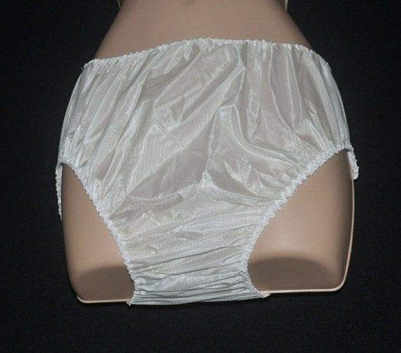 """SS32 - Soft parachute nylon adult baby panties, plasticy feel, to 32"""" waist, Sissy Lingerie"""