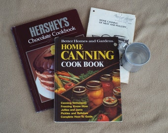 CLEARANCE Vintage Cookbooks; Antique Measuring Cup