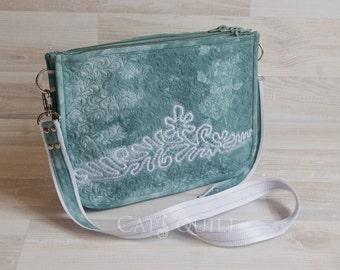 """Bag """"Foam sea"""". Clutches. Womans Handbag. Quilted bag"""