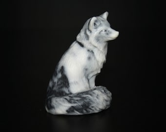 Figurine Fox of the marble chips, statuette