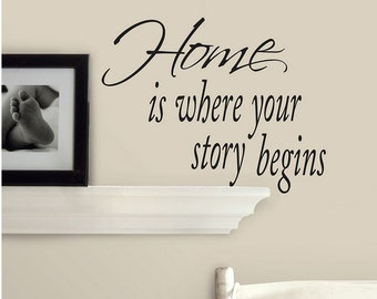 Home is where you story begins #4 ~ Wall Decal
