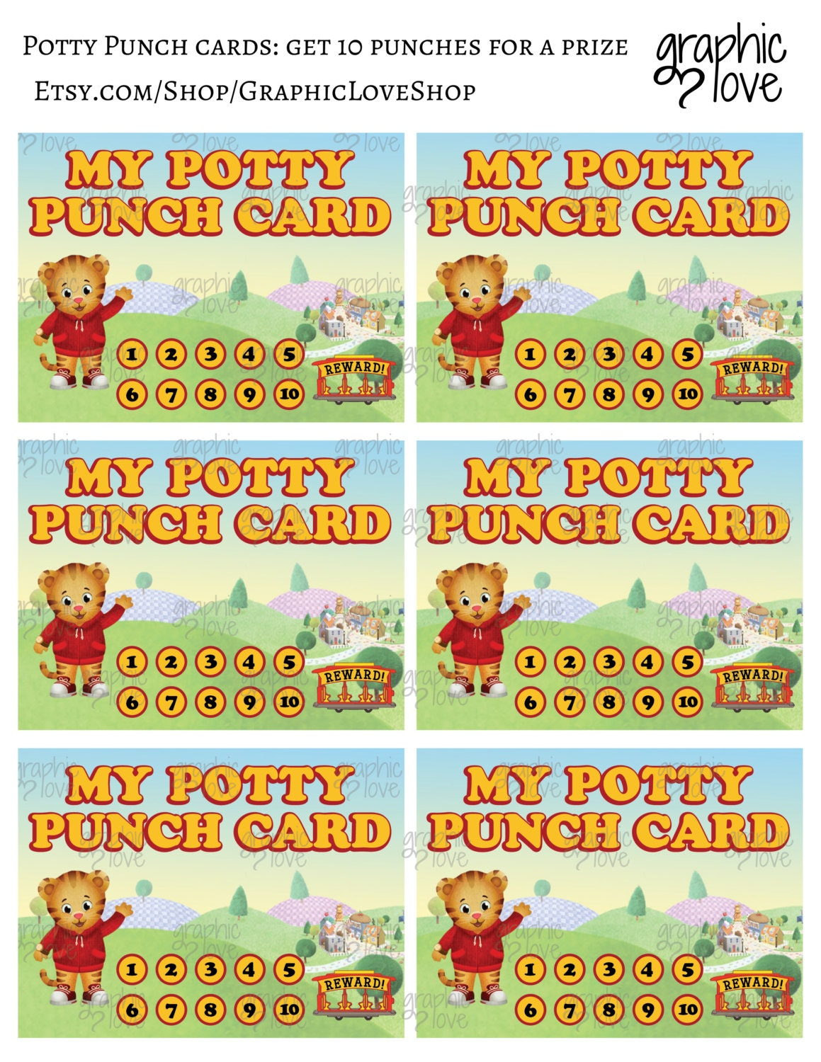 printable daniel tiger grr iffic potty training chart punch 1