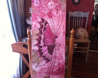 Butterfly painting on canvas
