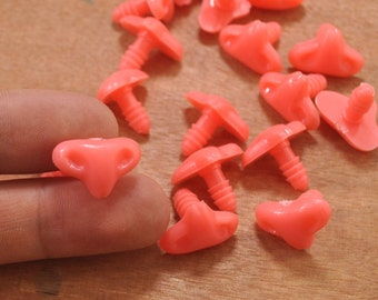10 Pcs 18mm Cat Nose Plastic Safety Nose for Crochet doll,Plastic Animal Safety Nose Fox /cat Nose
