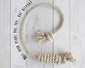 Perfect Dog Toy made from Organic Hemp Rope! Handmade in Switzerland