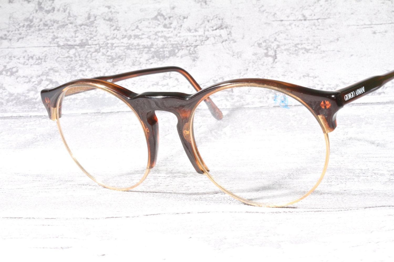 Vintage Armani Glasses Frames : Giorgio Armani 407 001 round vintage eyeglasses by ...