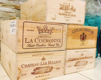 1 French Original Twelve count Bottles Wine Crates