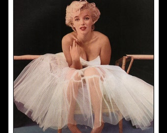 """Vintage Pinup Marilyn Monroe Sexy Pinup Wall Art Deco Book Print Double Sided 9"""" x 10.25"""""""