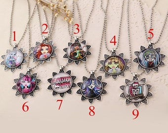 Monster High Pendant Necklace- Choose from 9 styles