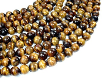 Tiger Eye, 14mm Round Beads, 15.5 Inch, Full strand, Approx 29 beads, Hole 1.2 mm (426054006)