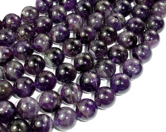 Amethyst, 12mm Round Beads, 15.5 Inch, Full strand, Approx 33 beads, Hole 1 mm (115054019)