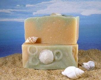 Aloe Cucumber Natural Soap / Homemade Soap made with Shea Butter Aloe Vera Essential Oils, Cold Process, Eucalyptus, Handcrafted
