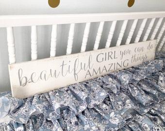 Beautiful Girl; Nursery Sign; Baby Shower Gift
