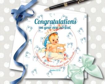 Children Are an Inheritance New Baby card. NWT. JW