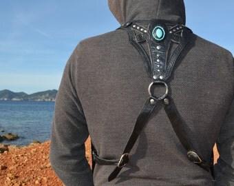 leather vest bag
