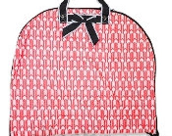 Coral Arrow Quilted Garment Bag - Personalized/Monogrammed - Horse Show