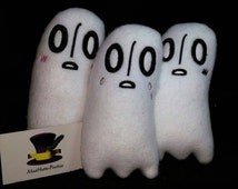 Undertale Napstablook inspired Plush, Shy Ghost Plush, Different Expressions Available!