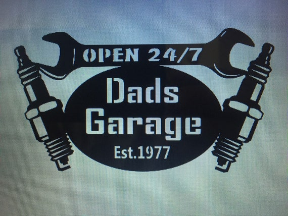 Dads Garage Sign With Date He Became A Dad Father At The