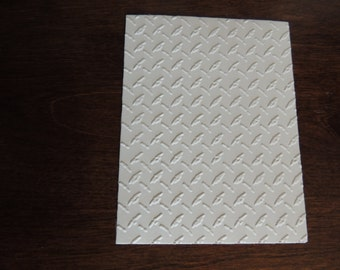 Diamond Plate Style,  Embossed Cardstock, Embossed Sheets, Embossed Card Fronts