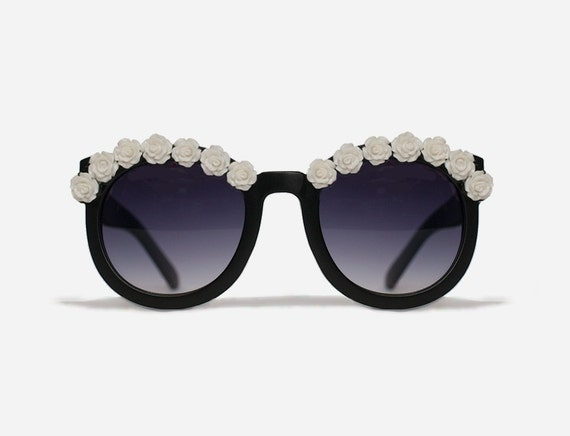 New York White Flower Sunglasses Festival Fashion Coachella