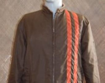 1960's Mens Brown Race Style Jacket