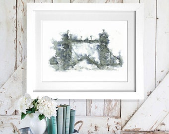 Tower Bridge Art Print A4