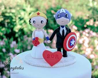 Captain America Wedding Cake Topper