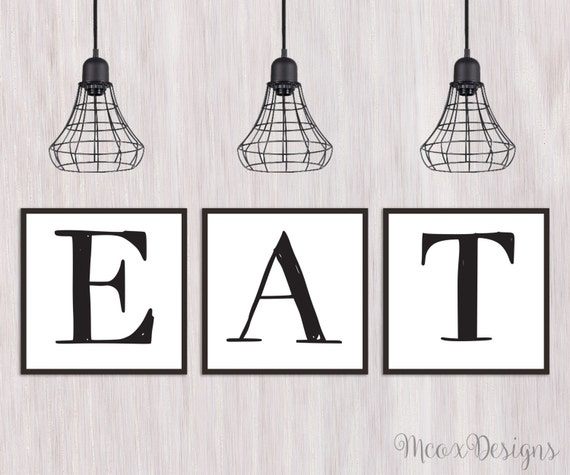 Eat letters printable kitchen dining room decor eat by for 8x8 dining room