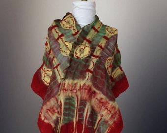 Nuno Felt Scarf/ shawl/wrap