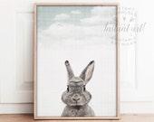 Woodland Animals nursery PRINTABLE art,rabbit print,bunny wall art,spring decor, nursery wall art,nursery decor,printable Easter decoration