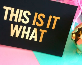 Gold Foil - This is it what - Camp Lo - Luchini Lyrics
