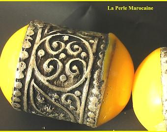 1 BEAD craft METAL tube creating crafts Moroccan 35 * 20mm