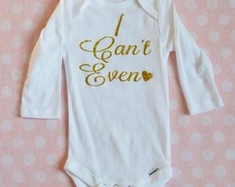 Onesie, I can't even, baby girl, baby girl clothes, baby girl onesie, hipster onesie, baby girl, baby girl bodysuit, fashion onesie