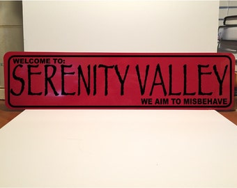 24x6 Serenity Valley Street Sign