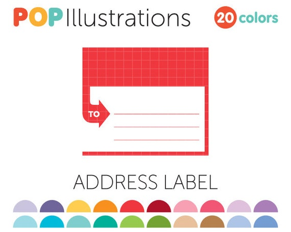 Address label clip art for commercial use by popillustrations for Address label clip art