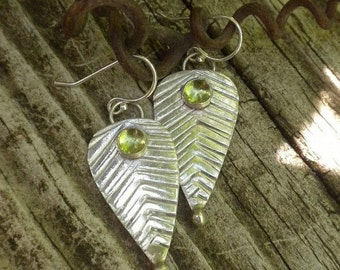 ON Sale Peridot Earrings in Silver