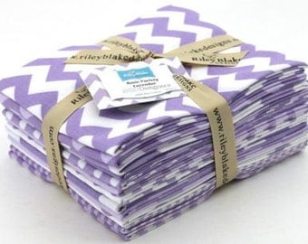 Riley Blake, Basics Variety, Fat Quarters Bundle - Lavendar